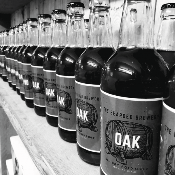 OAK, Whiskey Aged Cider Bottles